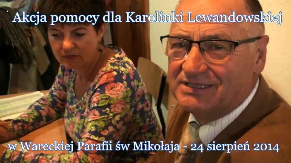 Akcja pomocy dla Karolinki Lewandowskiej – 28 sierpnia 2014