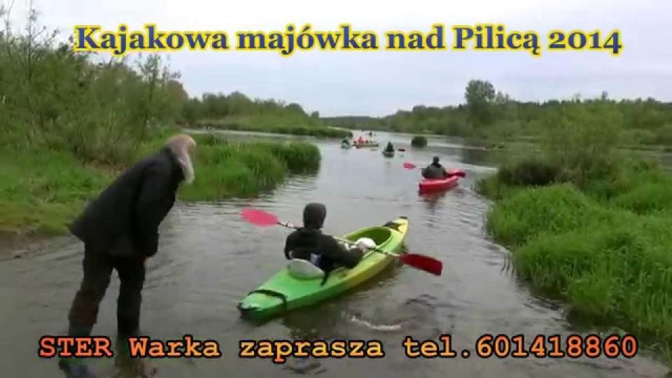 Kajakowa majówka, na starcie spływu Pilicą – 3 maja 2014