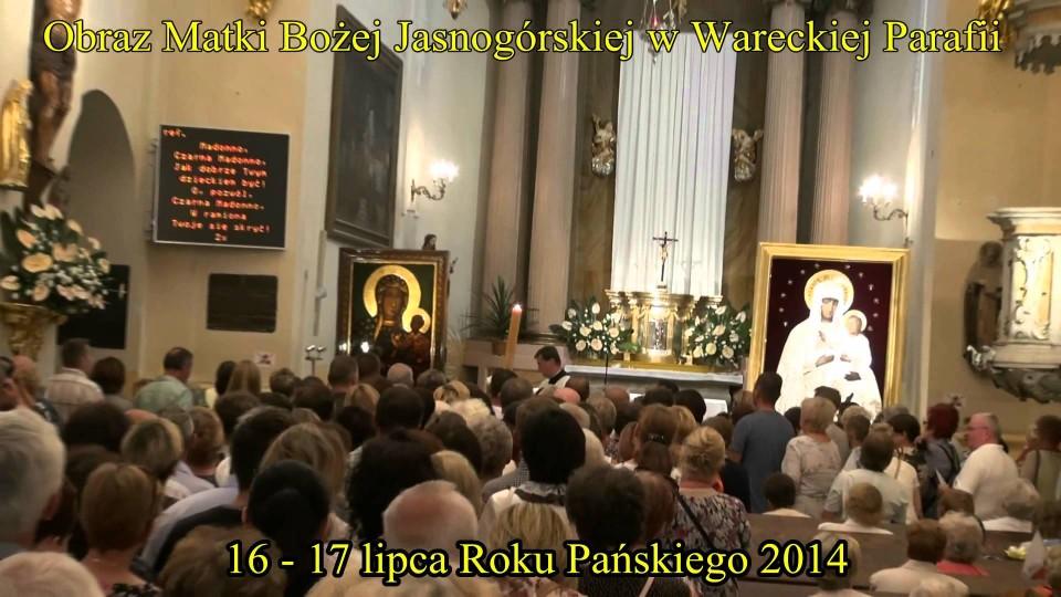 Madonna Jasnogórska w Wareckiej Parafii – 16 lipca 2014