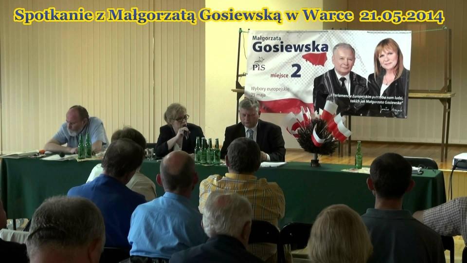 Spotkanie z Małgorzatą Gosiewską w Warce – 21 maja 2014