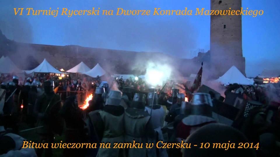 Rok 2014 – 10 maja VI Turniej Rycerski na zamku w Czersku