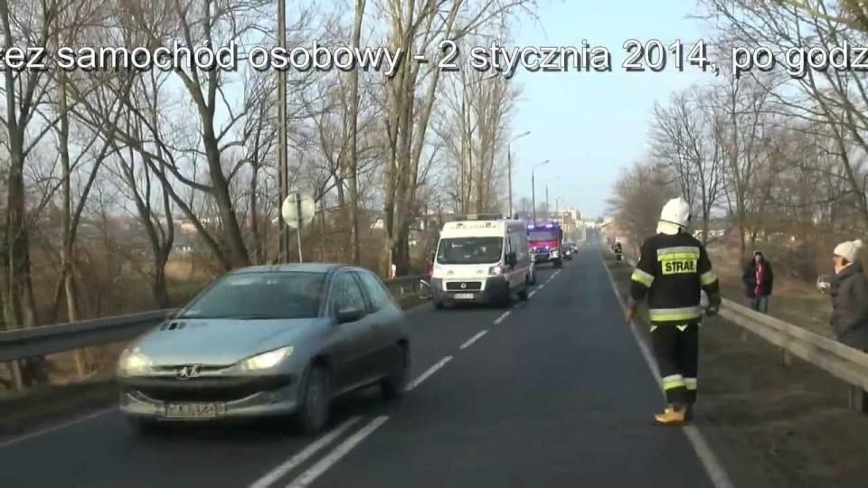 Wypadek samochodowy ul. Mostowa – 2 stycznia 2014