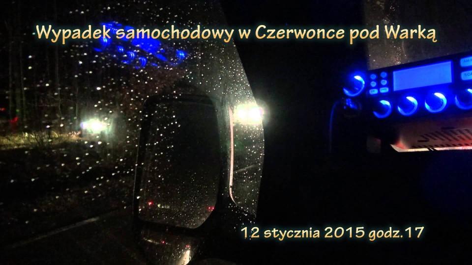 Wypadek samochodowy w Czerwonce pod Warką – 12 stycznia 2015