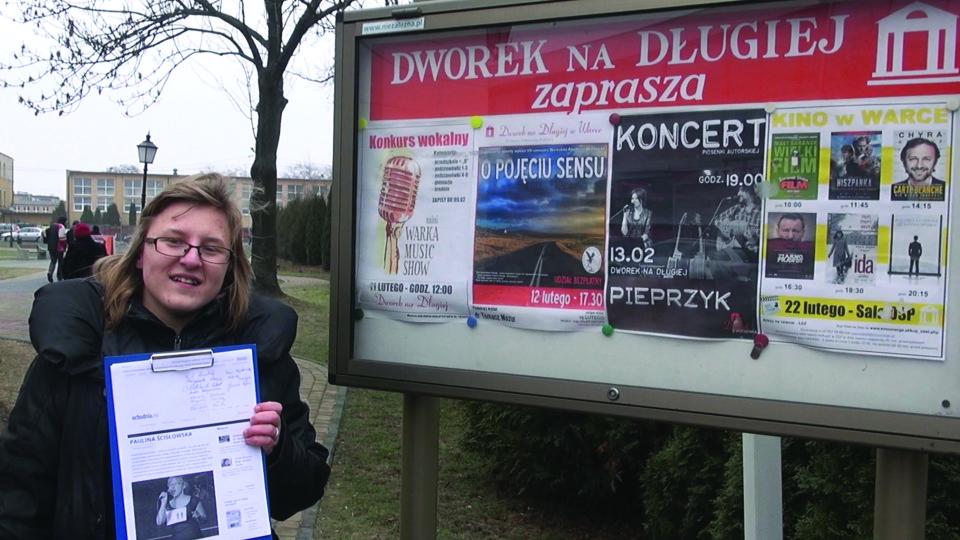 Paulina Ścisłowska w Muzycznych Kazikach Radomskiego Echa Dnia – 18 lutego 2015