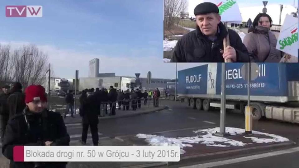 Akcja Protestacyjna Rolników w Grójcu – 3 lutego 2015