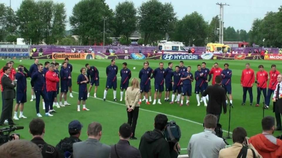EURO 2012 – Trening drużyny Chorwacji na Sielance w Warce – 5 czerwiec 2012