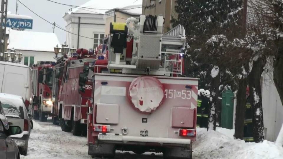Pożar mieszkania w centrum Warki przy ul. Niemojewskiej – 23 stycznia 2013