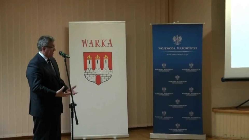 Prezydent RP Bronisław Komorowski z wizytą w Warce – 21 listopada 2013