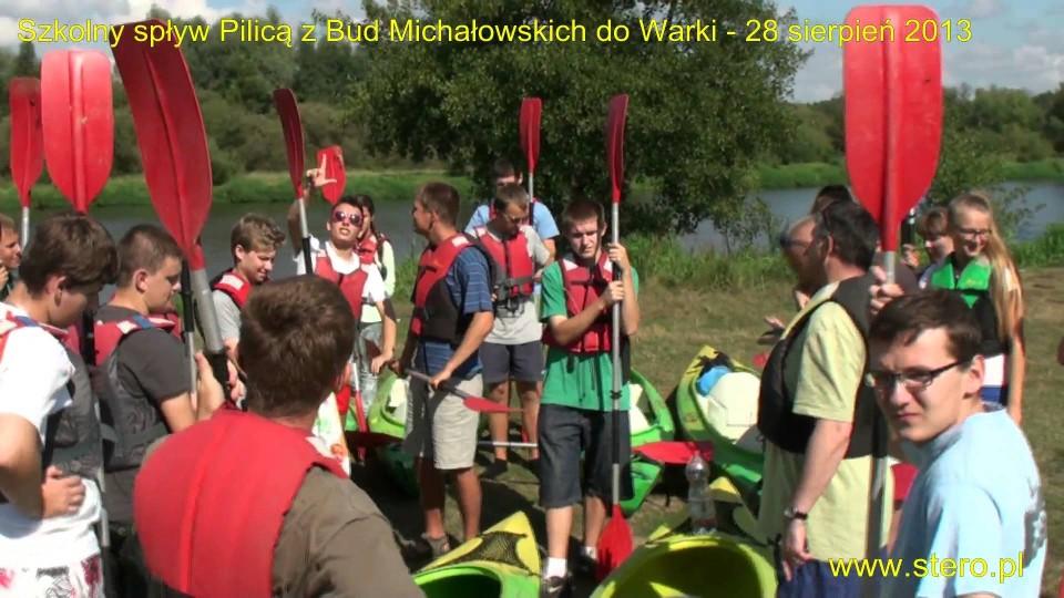 Szkolny spływ kajakowy Pilicą – 28 sierpnia 2013