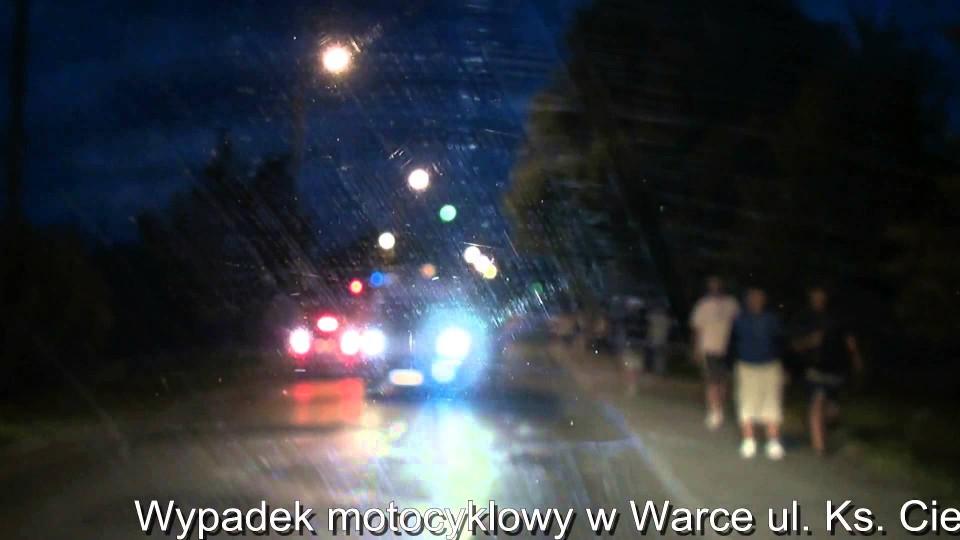 Wypadek motocyklowy w Warce ul. Ks. Ciemniewskiego – 22 lipca 2013