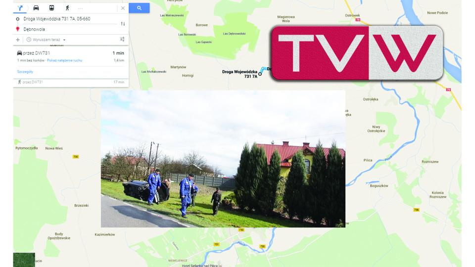 Wypadek samochodowy w Dębnowoli pod Warką – 30 marca 2015 g. 13 30.