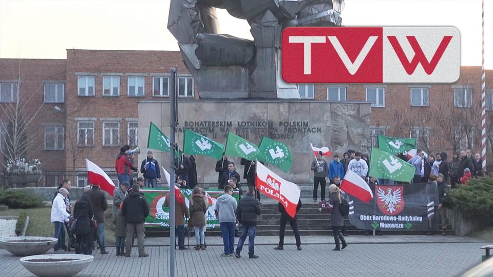 """Marsz Pamięci """"Żołnierzy Wyklętych"""" w Warce – 1 marca 2015"""