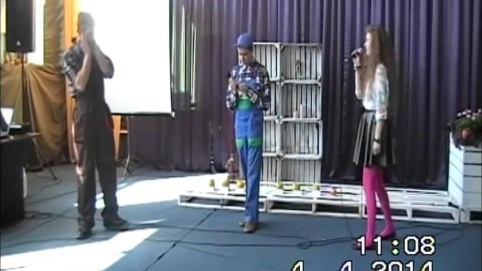"""Spektakl """"Romek i Julka"""" w wykonaniu uczniów CKZiU w Nowej Wsi – 4 kwiecień 2014"""