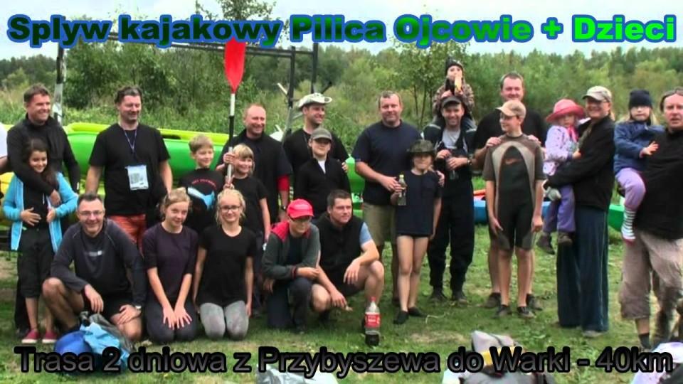 """Spływ kajakowy rzeką Pilicą """"Ojcowie i Dzieci"""" 15-16 września 2012"""