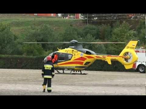 Start śmigłowca lotniczego pogotowia ratunkowego w Warce – 16 września 2012