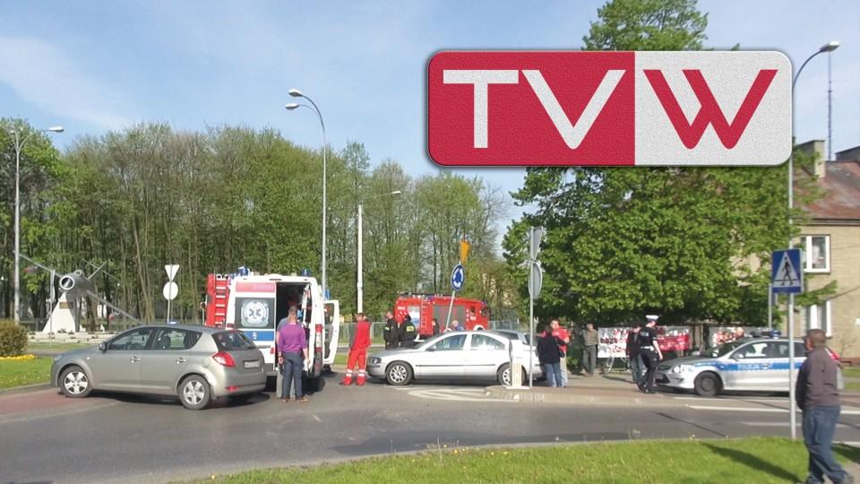 Wypadek samochodowy przy rondzie im. Lubertów w Warce – 5 maja 2015