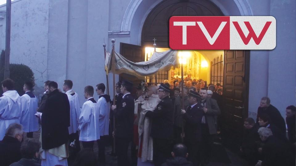 Rok 2016 – 27 marca Poranna Procesja Rezurekcyjna w wareckim Kościele Św. Mikołaja
