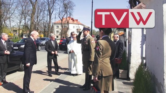Uroczyste odsłonięcie Tablicy Smoleńskiej w Warce – 17 kwietnia 2014