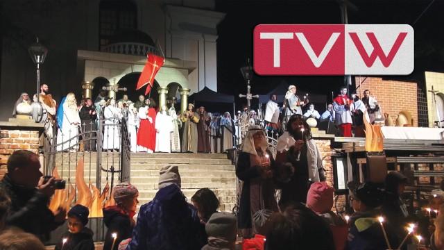 """Widowisko """"Jak Książę Mieszko Chrzest Przyjmował"""" – Góra Kalwaria 23 kwietnia 2016"""
