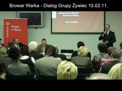 """Browar Warka – Konferencja """"Dialog Grupy Żywiec"""" – 15 lutego 2011"""