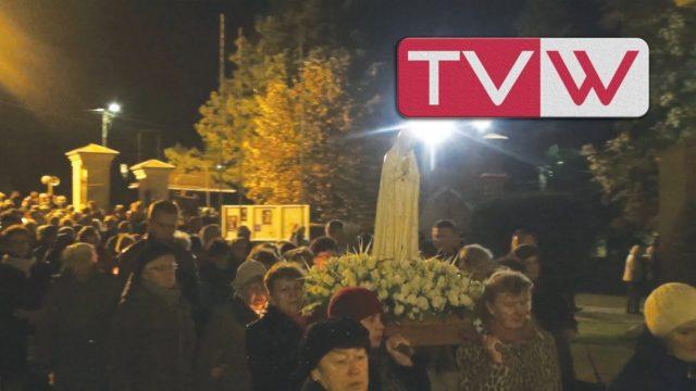 Procesja z figurą Matki Boskiej Fatimskiej ulicami Warki – 13 października 2017