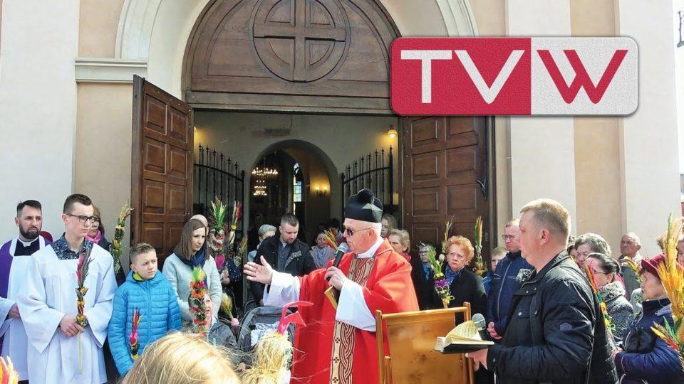 Rok 2019 – 14 kwietnia Procesja w Niedzielę Palmowa w wareckiej parafii św. Mikołaja Biskupa