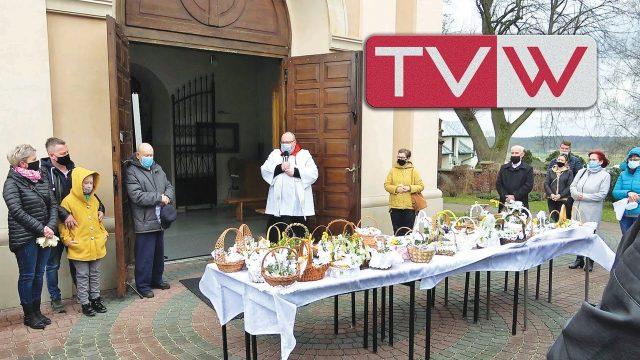 Wielka Sobota święcenie pokarmów u Św. Mikołaja Biskupa w Warce – 3 kwietnia 2021
