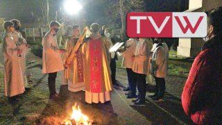 Wielka Sobota Wigilia Paschalna w kościele Św. Mikołaja Biskupa w Warce – 3 kwietnia 2021